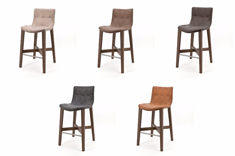 barhocker modern fresh bar stool in curry faux leather. Black Bedroom Furniture Sets. Home Design Ideas