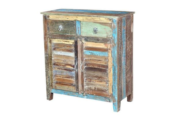 Indische Altholz Kommode Recycling Retro Sideboard Bei Möbelhaus