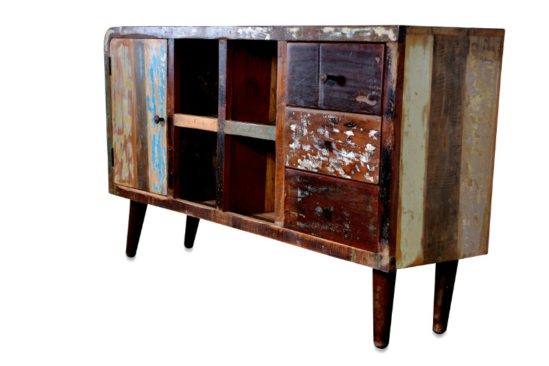 Indische kommode im vintage look industrielle m bel bei for Indische sideboards