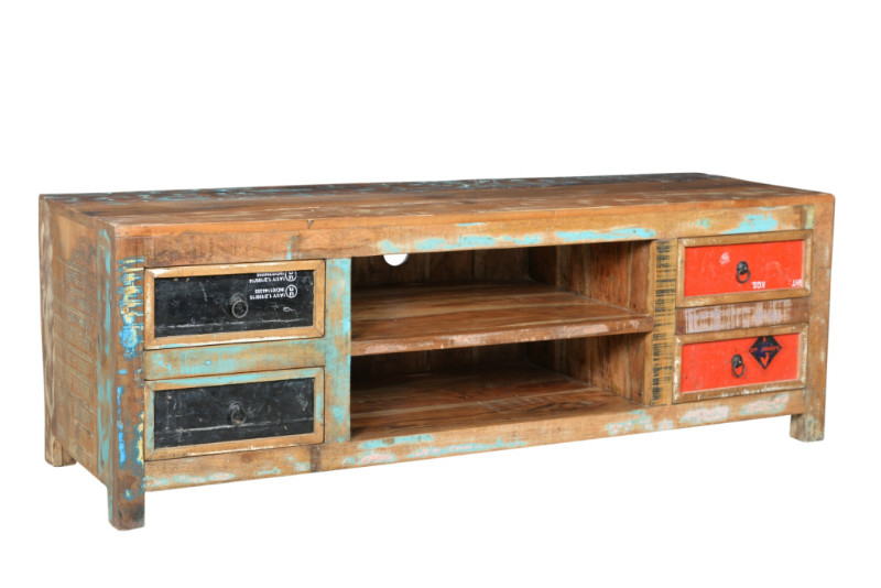 industrial chic tv sideboard recycling industrielle. Black Bedroom Furniture Sets. Home Design Ideas