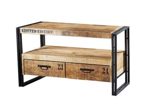 kleine tv kommode im industrial chic design kommoden. Black Bedroom Furniture Sets. Home Design Ideas