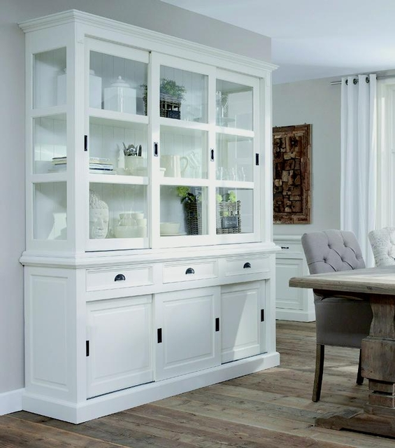 landhaus buffetschrank mit schiebet ren landhaus m bel bei m belhaus d sseldorf. Black Bedroom Furniture Sets. Home Design Ideas