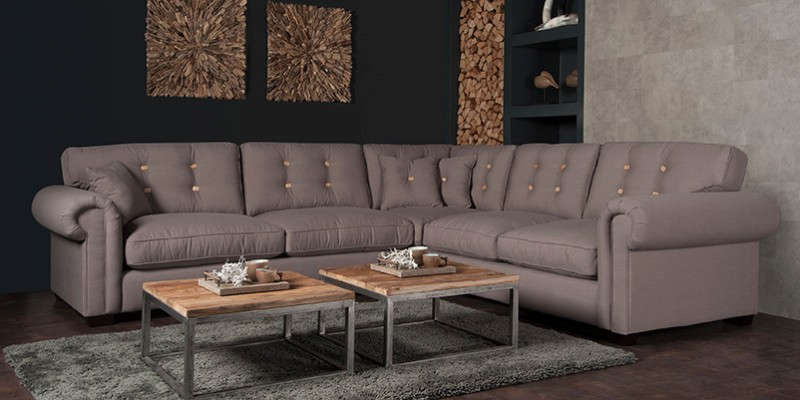 landhaus couchgarnitur aus stoff sofas couches. Black Bedroom Furniture Sets. Home Design Ideas