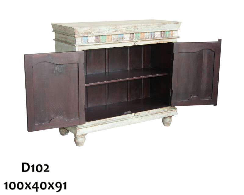 shabby chic kommode aus recyceltem holz dielenkommoden flur diele wohnbereiche bei. Black Bedroom Furniture Sets. Home Design Ideas