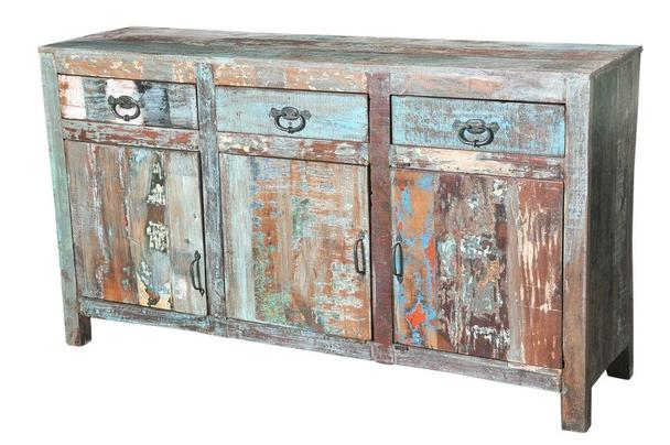 shabby chic kommode bunt aus altem holz vintage m bel bei m belhaus d sseldorf. Black Bedroom Furniture Sets. Home Design Ideas