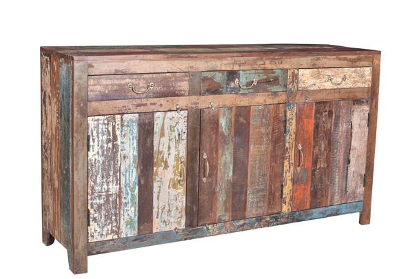 Shabby Chic Kommode Bunt Aus Altem Holz Retro Sideboard Bei