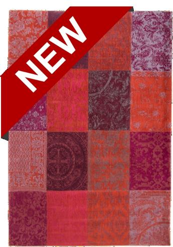 Vintage Patchwork Teppich Rot Orange