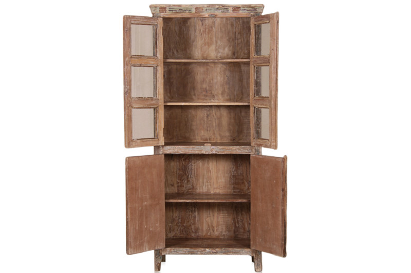 vitrinen schrank shabby chic bunt vintage m bel bei m belhaus d sseldorf. Black Bedroom Furniture Sets. Home Design Ideas